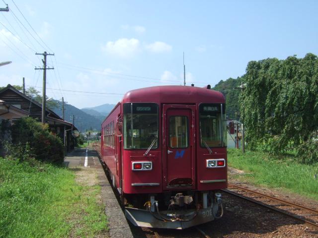 長良川鉄道@大矢駅にて