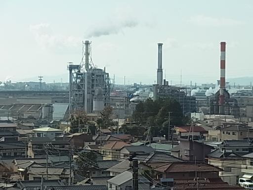 製紙工場群